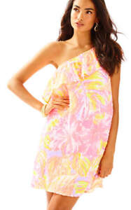 6ad5d7bfa753f5 Image is loading NWT-168-Lilly-Pulitzer-EMMELINE-One-Shoulder-Multi-
