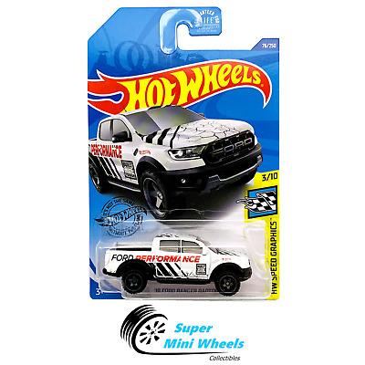 19 Ford Ranger Raptor #76 White Ford 3//10 Speed Graph8ics 2020 Hot Wheels Case D