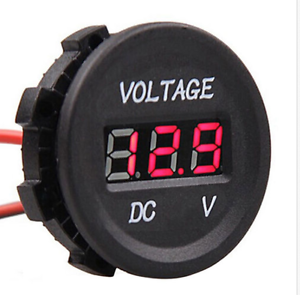 Car-Motorcycle-DC12V-Red-LED-Panel-Digital-Voltage-Meter