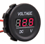 Car-Motorcycle-DC12V-Red-LED-Panel-Digital-Voltage-Meter thumbnail 1