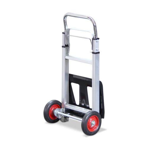 100KG Portable Aluminium Folding Heavy Duty Sack Truck Transport Trolley Cart