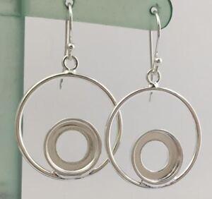 Authentic-Kameleon-Sterling-Silver-25mm-Drop-Hoop-Earrings-Ke-35-Ke035-New