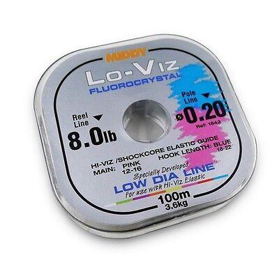 MIDDY Lo-Viz Fluorocrystal fishing line 100m+10m free