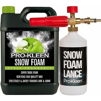 NILFISK PRESSURE WASHER SNOW FOAM LANCE WITH APPLE SNOW FOAM CAR SHAMPOO WAX