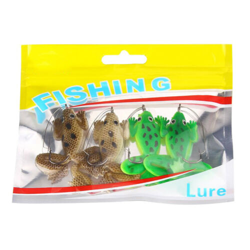 4Pcs Artificial Frog Premium Soft Bait 60mm 5.2g Silicone Bionic Fishing BaitFBB
