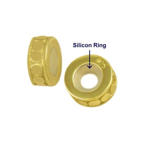 Argent Sterling 925 Perles Bouchons pour 3 mm Chaîne Bracelets /& Colliers