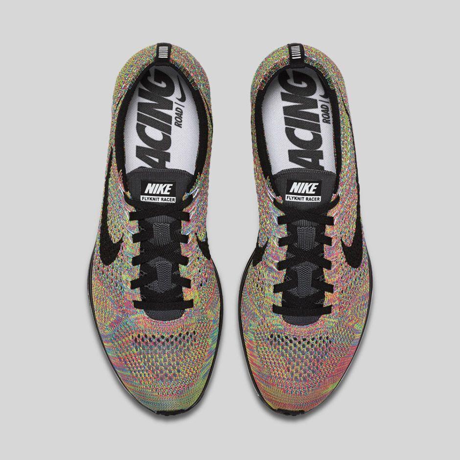 b726436f922a 2016 Nike Flyknit Flyknit Flyknit Racer Multicolor MC Rainbow Size 13.  526628-004.