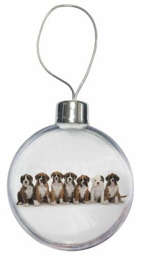 AD-B29CB Boxer Dog Puppies Christmas Tree Bauble Decoration Gift