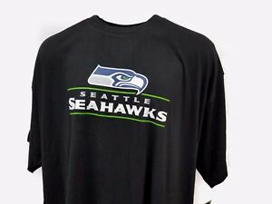 pretty nice d5e9e 458e9 Details about Seattle Seahawks Black Majestic NFL Logo T-Shirt Men's Big  and Tall 5XL 6XLT