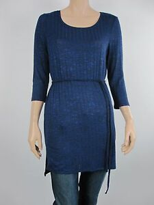 Katies-Ladies-Rib-Belted-Tunic-Top-sizes-Medium-Large-1XL-Colour-Blue-Black