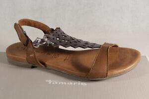 b54002ac551d Das Bild wird geladen Damen-Tamaris-Sandale-Sandalette-Echtleder -braun-grau-NEU
