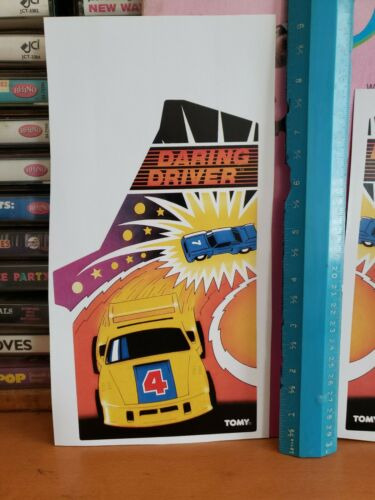 TOMY MINI ARCADE DARING DRIVER DECALS.