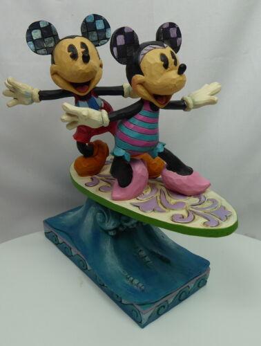 Disney Figurine Jim Shore Traditions Mickey Minnie Surfing 6001275 Surf`s UP!