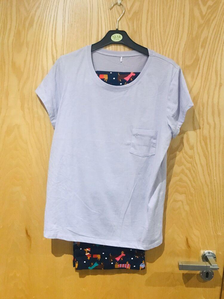 Saucisse Chien/teckel Pyjamas Set Taille 12 To 14 ~ Neuf