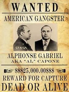 Framed Print Al Capone American Gangster Picture Poster Chicago Mafia Art