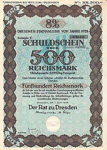 AV-VD-Sachsen-Der-Rat-zu-Dresden-1-Juni-1928-8-Schuldschein-500-Reichsmark-AK12