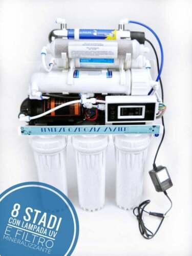 Depuratore acqua potabile osmosi inversa 8stadi 300galloni con lampada UVPhilips