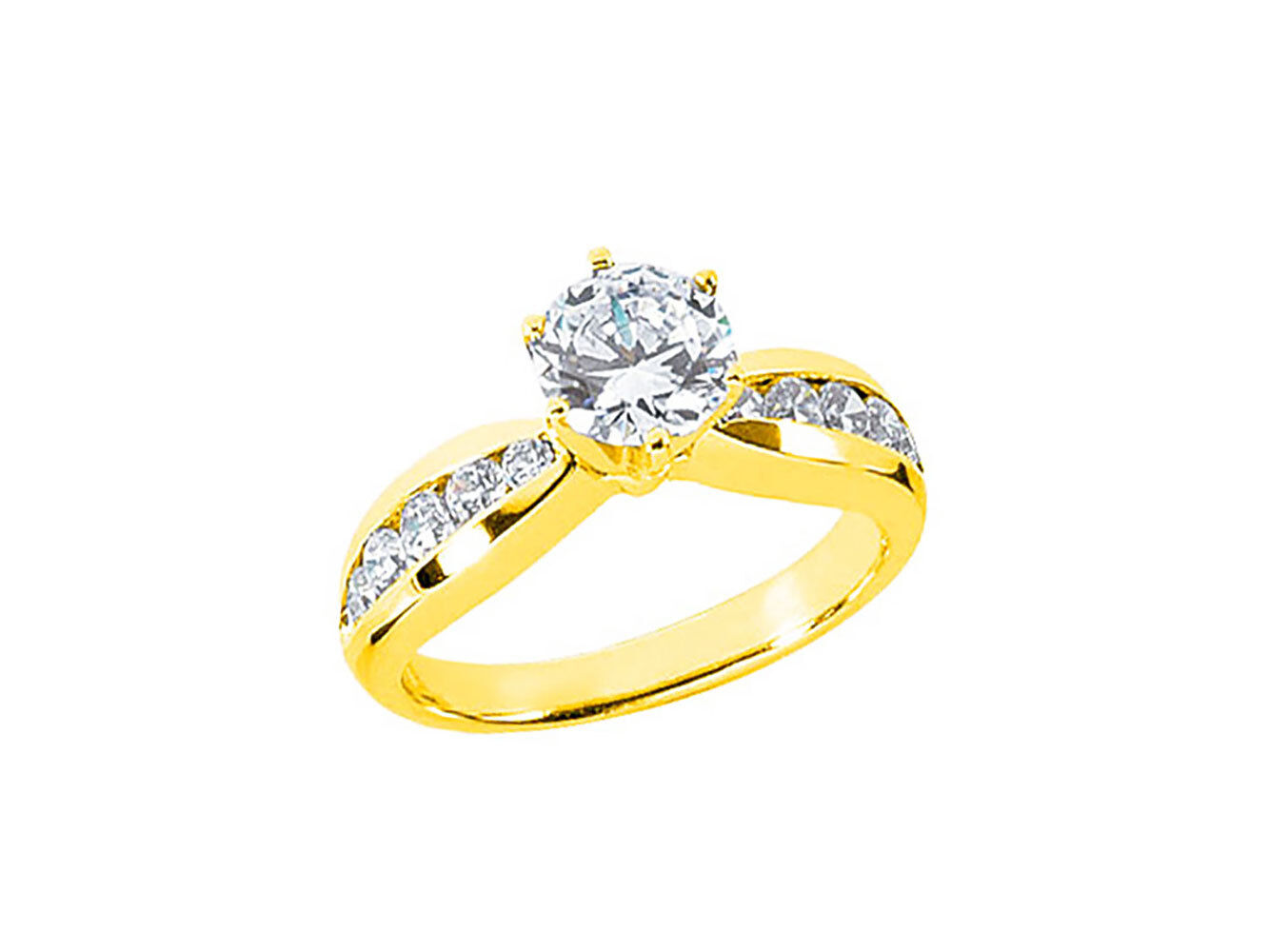 0.90Ct Round Cut Diamond Ladies Bridal Engagement Ring Solid 18k gold G SI1