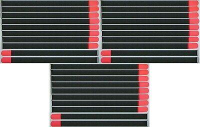 30 X Klettband Kabelbinder Fk 80 Cm X 50 Mm Neon Rot Klettbänder Kabelklettband Feines Handwerk