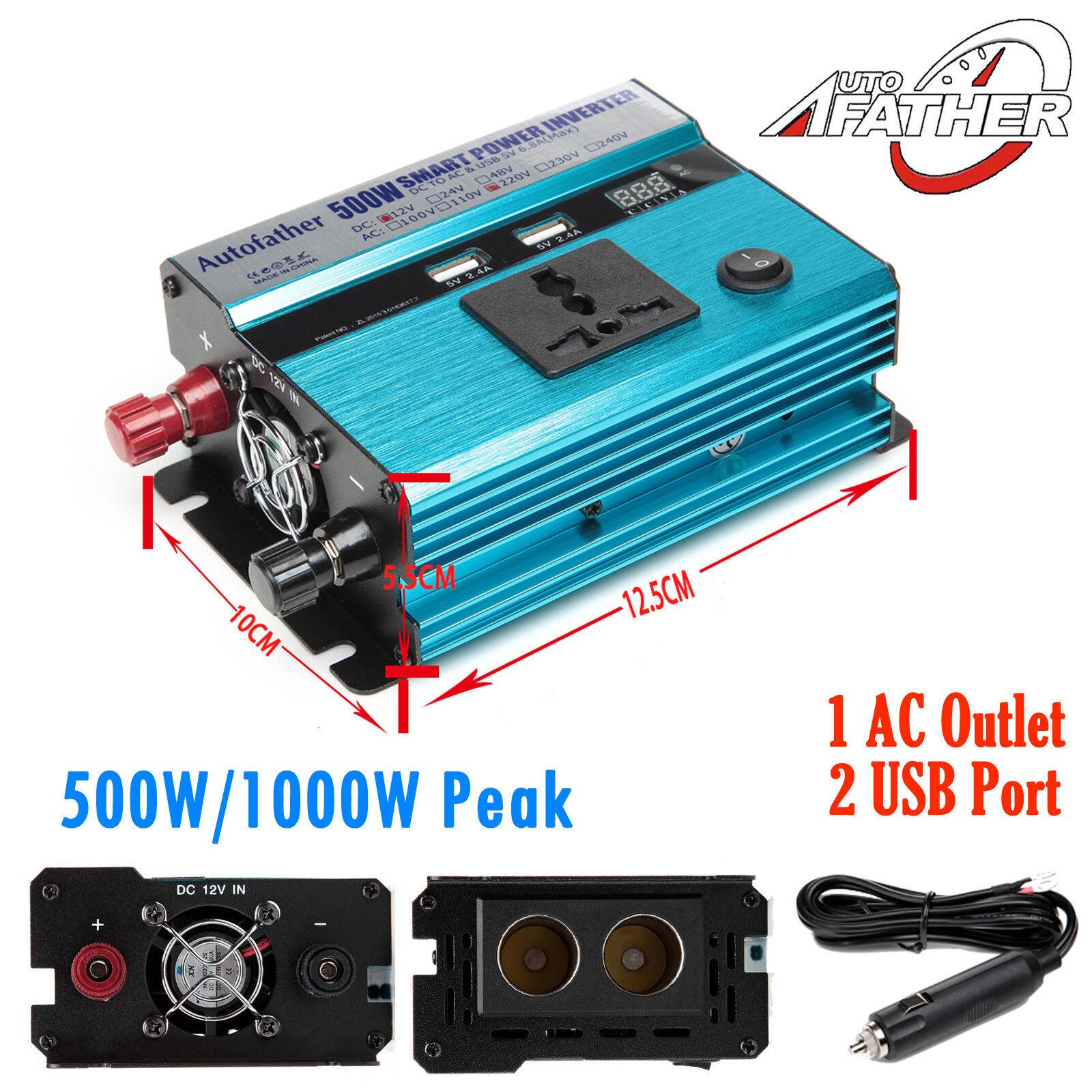 500W-4000W Wechselrichter Wechselrichter Wechselrichter Spannungswandler 12V auf 220V Auto Konverter Inverter dba675