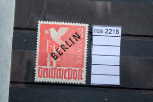 GERMANY Great Stamps Overprinted BERLIN in black SIGNED 3 MARK MNH** (ros2218)