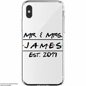 Personalized-Mr-amp-Mrs-Friends-Themed-Wedding-Custom-Monogram-iPhone-11-Case