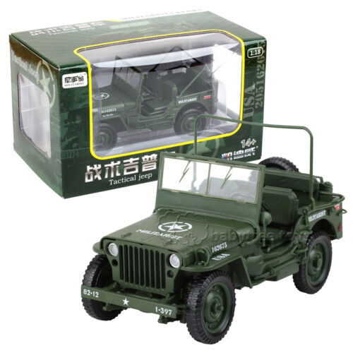 KDW 1//18 Scale Diecast Military Army Tactical Jeep Vehicle Model Toys
