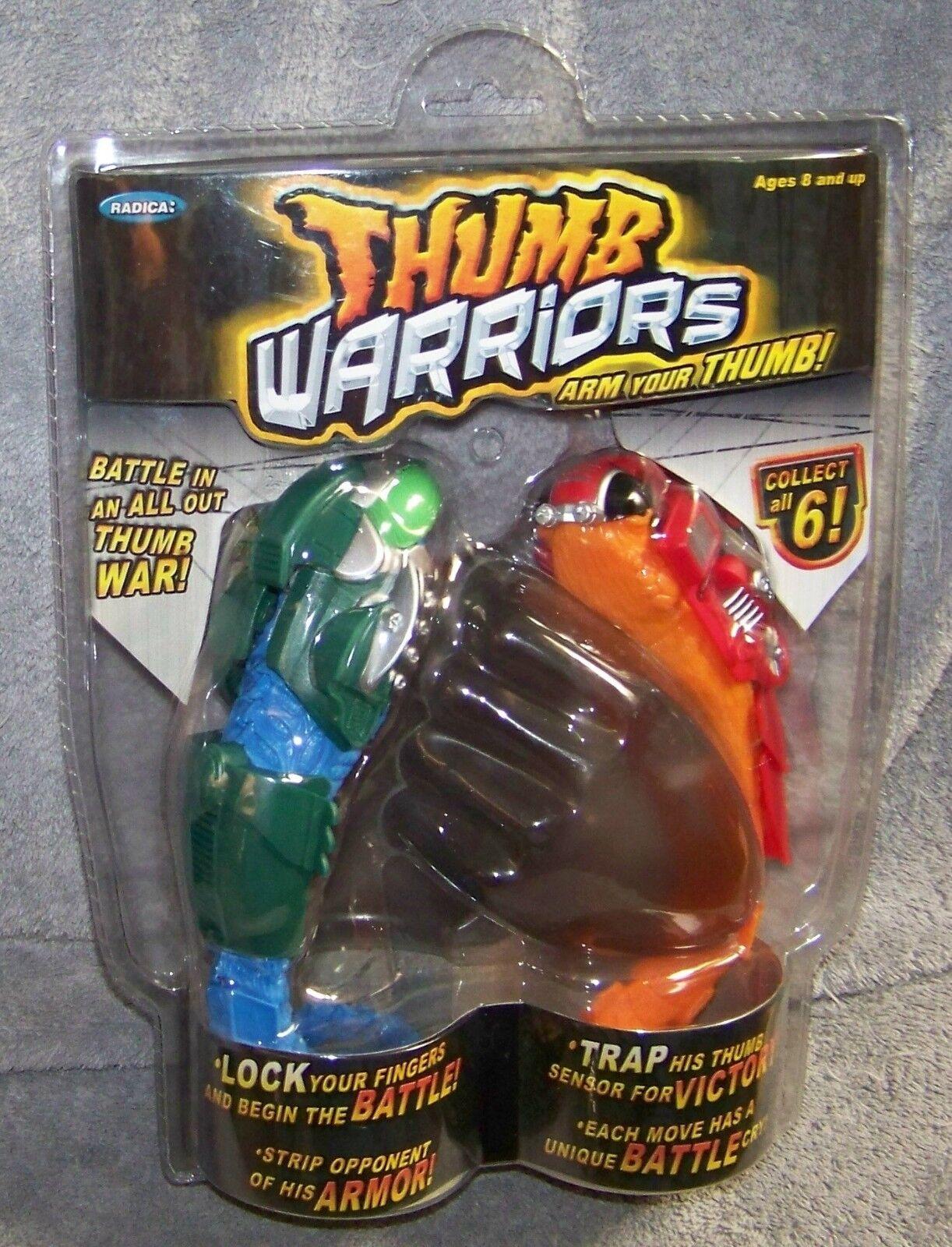 RADICA THUMB WARRIORS GAME THUMB WAR BATTLE MANTIS & MAGMA SET