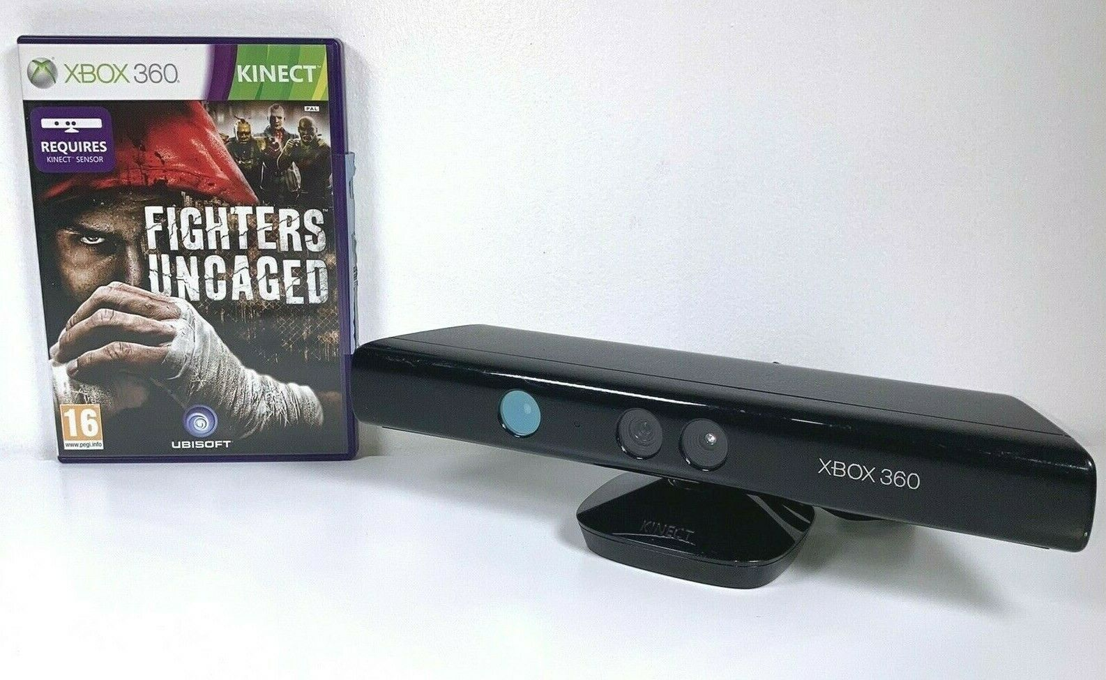 Xbox 360 Kinect with Kinect Fighters Uncaged Game With Manual Microsoft