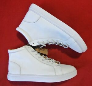 Details about New American Eagle Outfitters Men's White Leather High Top Lace Up Boots Size 9