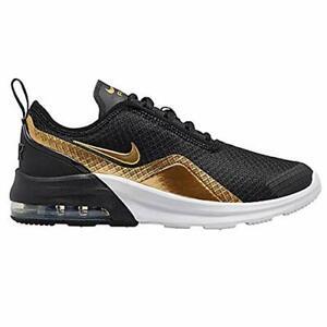Details about Nike AIR MAX Motion 2 Sneaker - Kids' (6, Black/Gold Metallic)