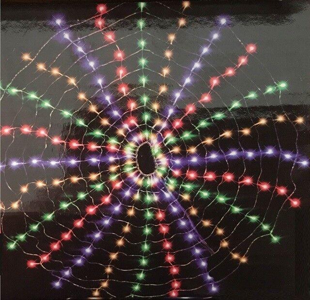 216 LED Luz de rojo Multi Spinning Círculo web rojoondo Intermitente Navidad Navidad XM0160
