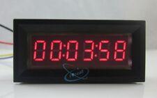 Led Rojo Digital Timer totalizer hora Cronómetro Industrial 12v Dc Medidor De Panel