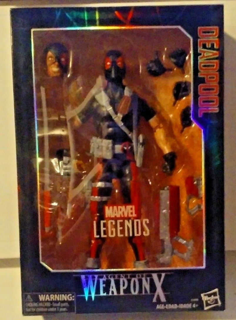 Marvel legends series 12 zoll agenten waffe x fr deadpool gamestop exklusive misb