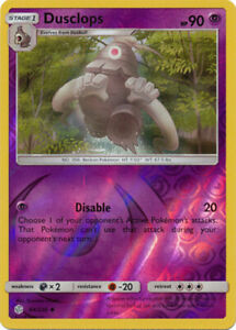 Pokemon Cosmic Eclipse Dusclops 84//236 NM//M Reverse Holo