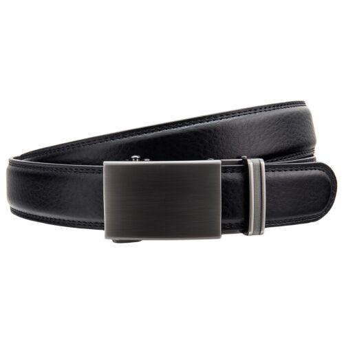 Miuno Pelle Griglia Cintura Automatico Nero Automatic Belt Black hh-104-n