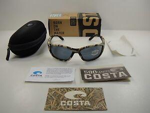 New Costa Del Mar Tuna Alley Polarized Sunglasses 580P Mossy Oak Camo//Gray