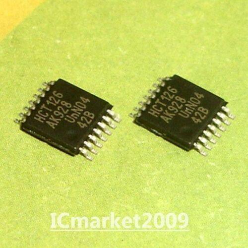 50 PCS 74HCT126PW TSSOP-14 74HCT126 HCT126 Quad buffer//line driver; 3-state