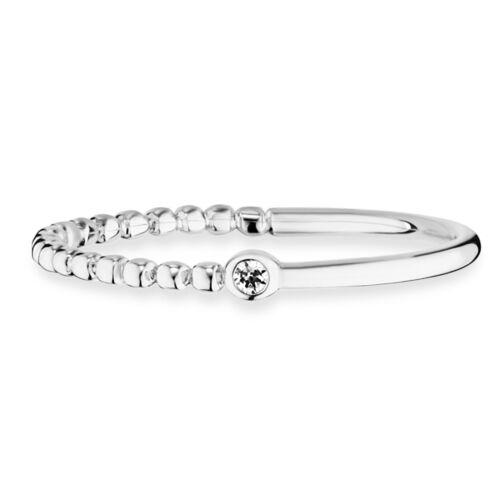 Cai Love anillo 925 Sterling plata rhodiniert circonita mitad pulido dots señora