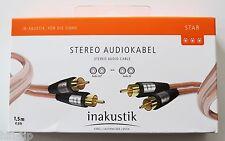 inakustik Star II Audiokabel Stereo Cinchkabel NF Kabel 3 m  Neu