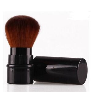 2X-Retractable-Blush-Foundation-Gesichtspuder-Kosmetik-Make-up-Pinsel-Schwarz-S2