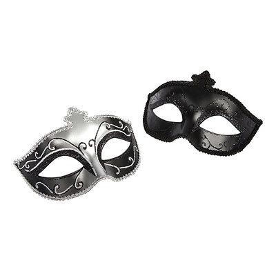 Masken Set  in schwarz Glitzer 2 Stück Fifty shades of grey  Kostüm Fasching