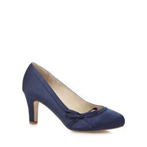 Debut-DOVEY-Navy-Satin-Mid-Heel-Wide-Fit-Court-Shoes-UK-7-EU-40-LG077-EE-11