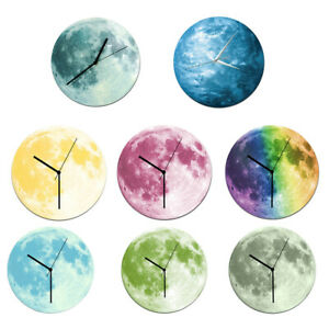 Indoor-Decorative-Wall-Clock-12inch-Luminous-Moon-Battery-Operated-Silent