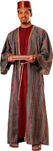 Balthazar-King-Adult-Men-039-s-Costume-Striped-Lame-Robe-Fancy-Dress-Rubies