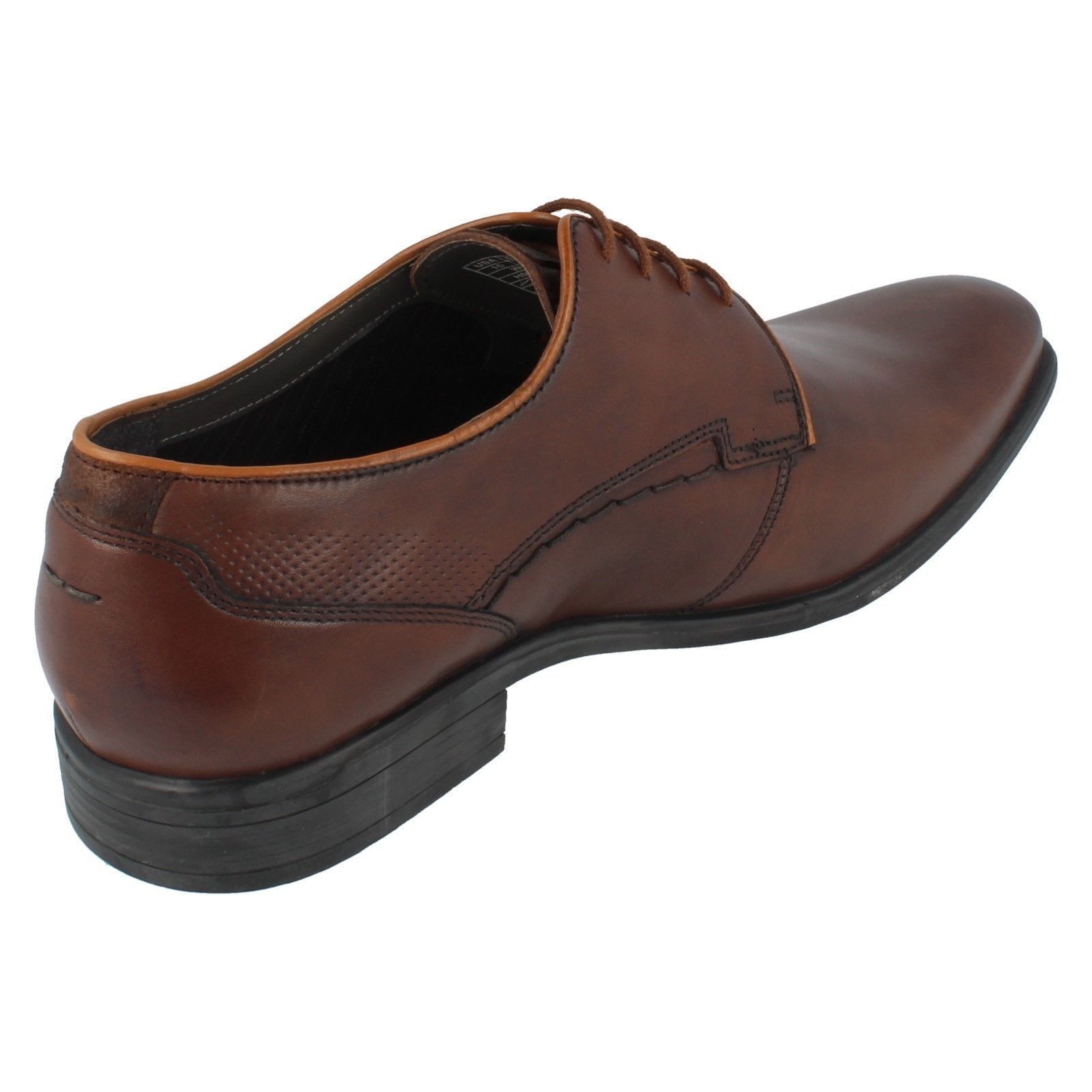 Mens Puppies Braun Leder Lace Up Hush Puppies Mens Schuhes - Kane Maddow fd0230