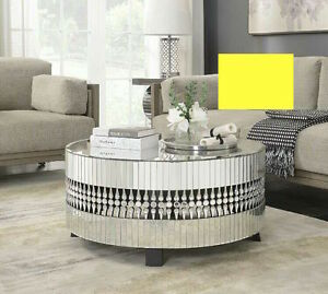Details About Round Mirrored Coffee Table Rrp 685 Luxury Mirror Furniture