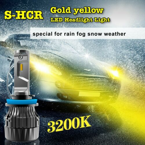 Alla Lighting LED 9005 S-HCR YELLOW Driving Light|Headlight Replacement,Slim Fan