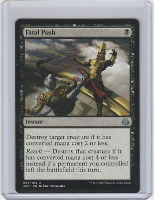 Near Mint 2 Available!! NM 1x Fatal Push MTG Aether Revolt AER