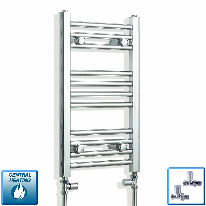 Alto 600 mm 300 mm di larghezza Cromo dritto binario calorifero radiatore bagno piatto